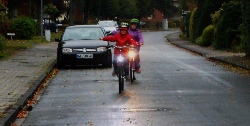 Radfahrer mit Licht